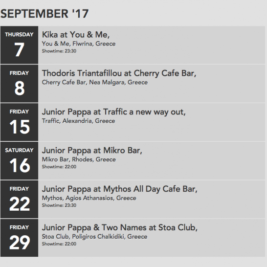 Septemer 2017 Schedule A2ltd